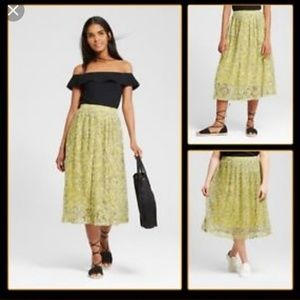 Who What Wear Floral Pleated Skirt 18w & 22w NWT